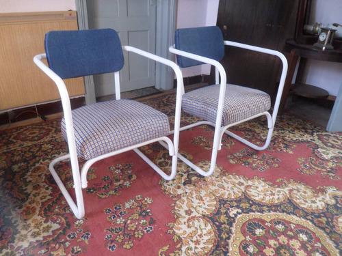 sillones retro estilo art deco reciclados retapizados anuevo