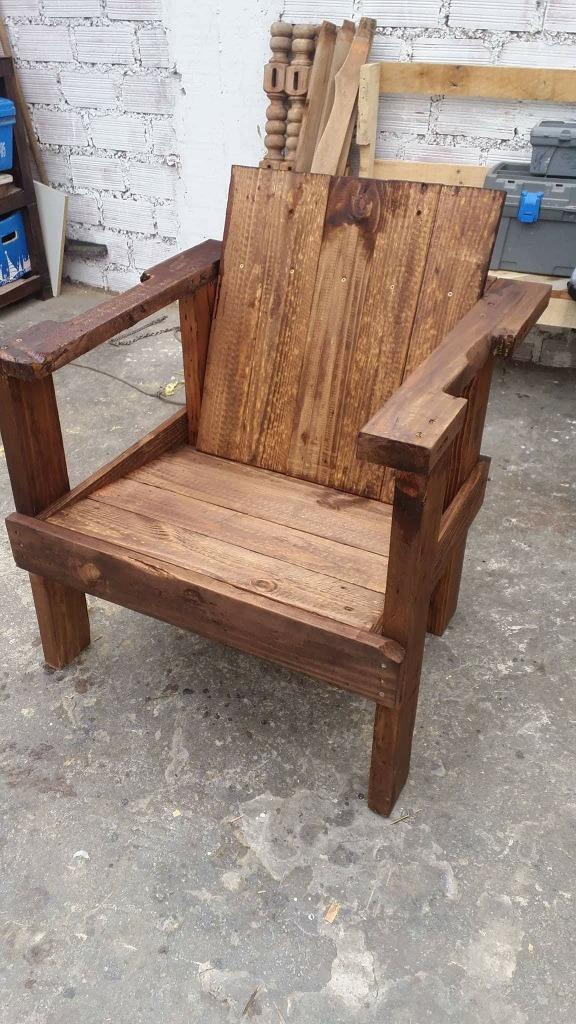 Sillones rusticos de puro palets s 200 00 en mercado libre for Sillones rusticos de madera