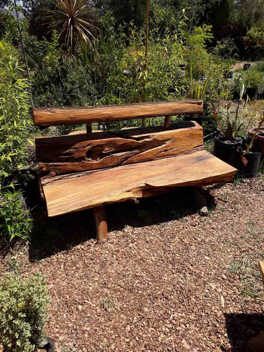 Sillones r sticos de tronco para jardin y terraza 135 for Sillones de terraza y jardin