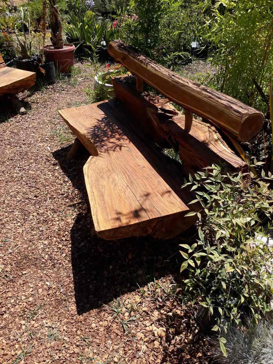 Sillones Rústicos De Tronco Para Jardin Y Terraza
