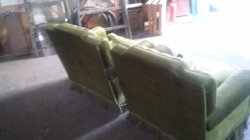 sillones tipo ingles pana verde excelente estado