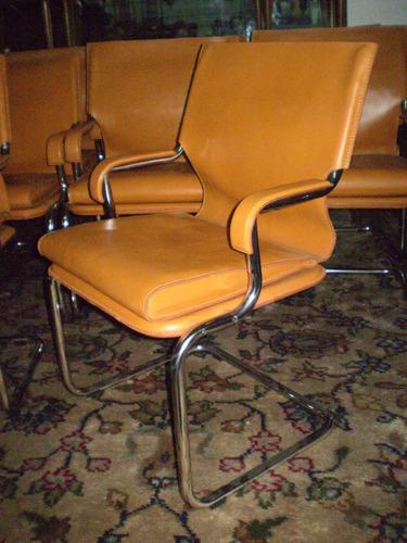 sillón/silla de diseño  mies van der rohe de cuero (1031)