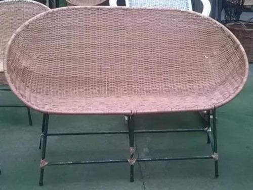 sillon/silla de mimbre modelo nido (solo el sillon doble)