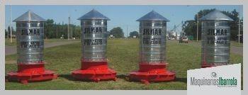 silo cilindrico comedero para cerdos 400 kilos 14 bocas