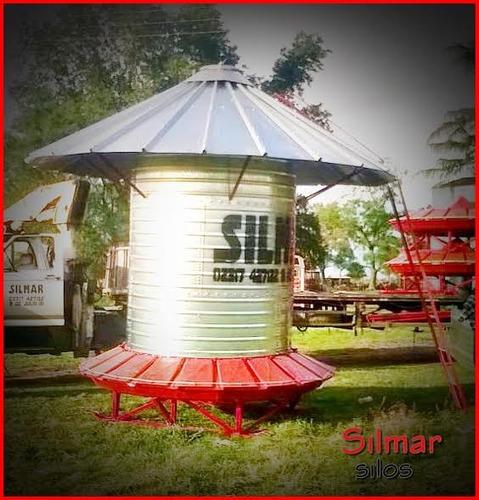 silo comedero para cerdos 400 kilos 14 bocas cilindrico