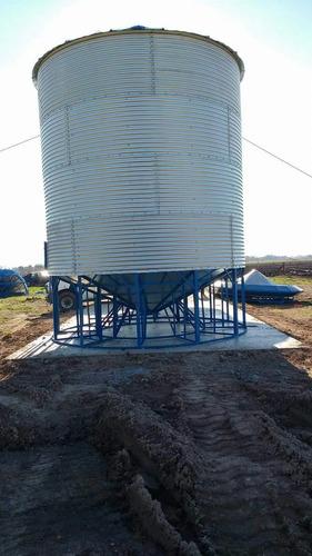 silos autoconsumo de 18 tn con alero al medio