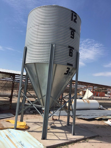 silos metalicos galvanizados, silo para alimento 15 ton
