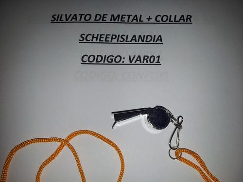 silvato de metal + collar var01