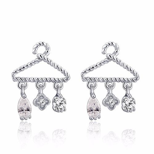 silver hanger earrings