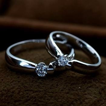 silver lovers rings set