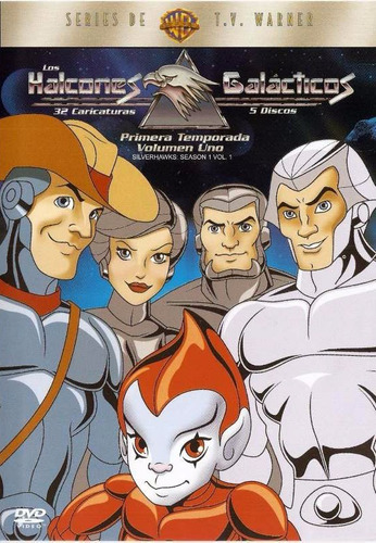 silverhawks halcones galacticos - temporada 1. 5 dvd.