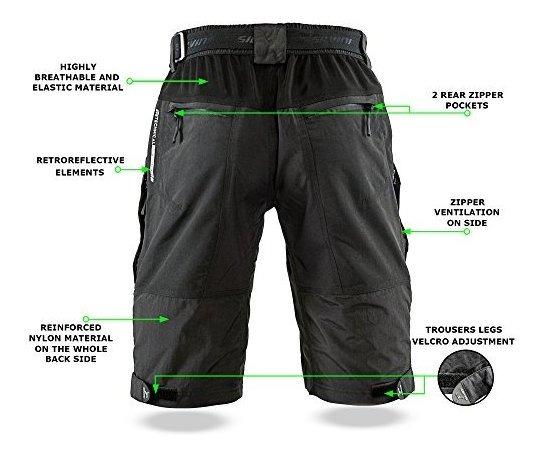 SILVINI Pantalones Cortos Hombre Rango con 6 Bolsillos Pantalones Ciclismo y Todas Las Dem/ás Actividades Al Aire Libre