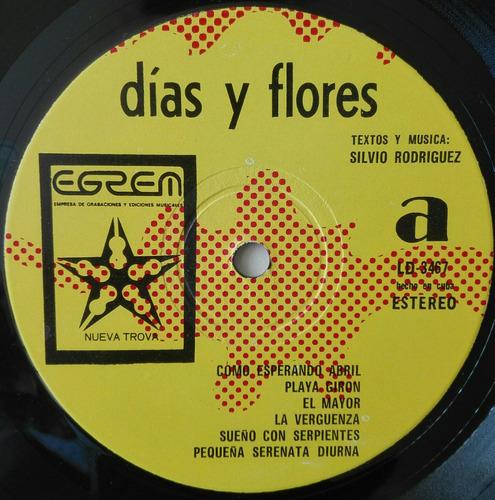 silvio rodriguez. dias y flores.  cuba 1975, disco vinilo