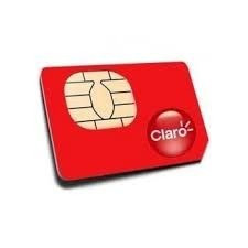 sim card prepago claro 4g lte por mayor paquete x 100 unidad