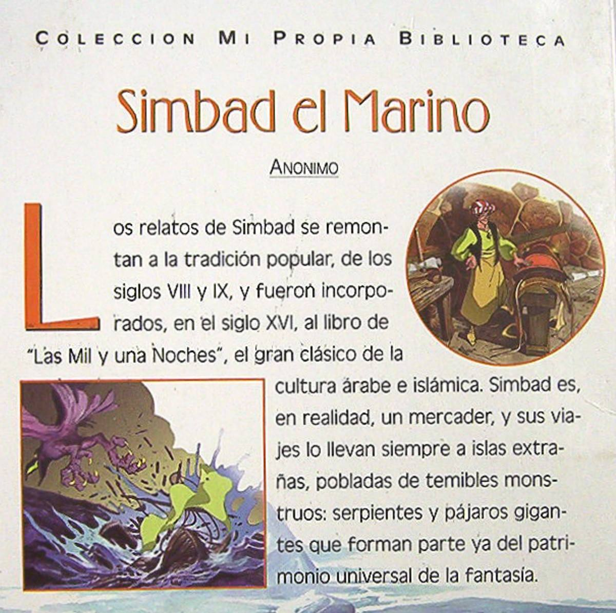 Simbad El Marino Novela Adaptada Para Niños Colección
