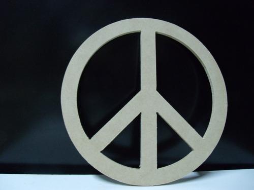 simbolo de la paz en fibrofacil para pintar, varios tamaños
