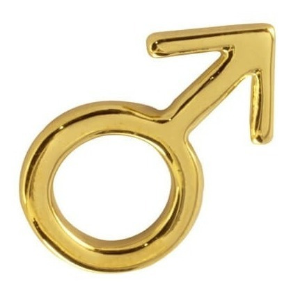 símbolo masculino y cadena ancla chapa de oro 22 kilate