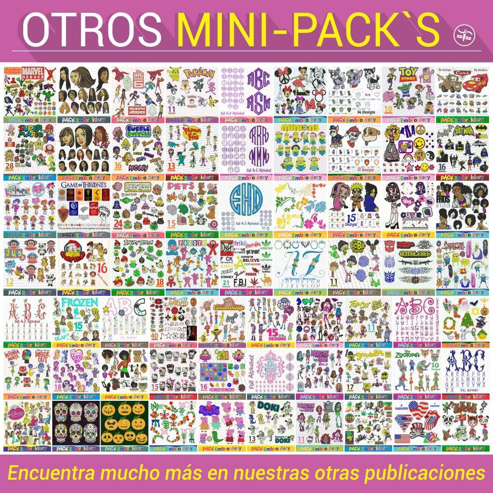 Simbolos Suecos Set 35 Patrones Bordados Matrices Brother - $ 90,00 ...