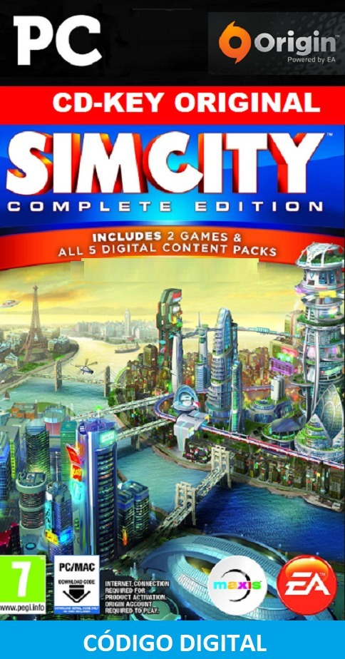 Simcity Complete Edition Pc Cd-key Origin Original