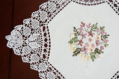 simhomsen hecho a mano de algodón blanco mantel de lino de