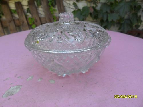simil antigua bombonera o caramelera en vidrio