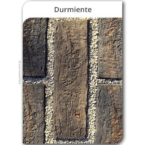 símil durmiente de cemento - símil madera vintage añejo