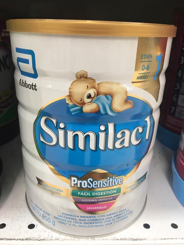 similac pro sensitive etapa 1 x 850gr