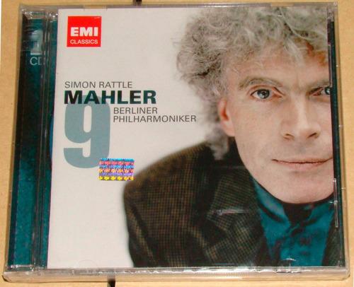 simon rattle mahler simphony n°9 2 cd nuevo / kktus