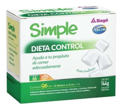simple arcor bago fibra - vitalidad - calcio - dieta control