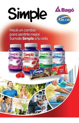 simple bago calcio + vitamina d 180 pastillas de goma