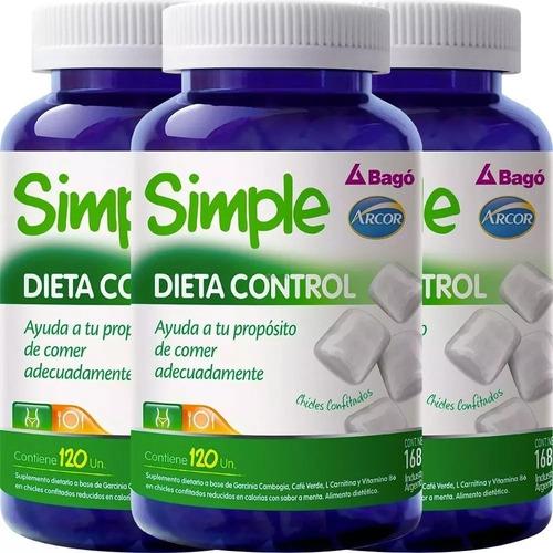 simple bago dieta control perdida de peso x 120 combo x 3