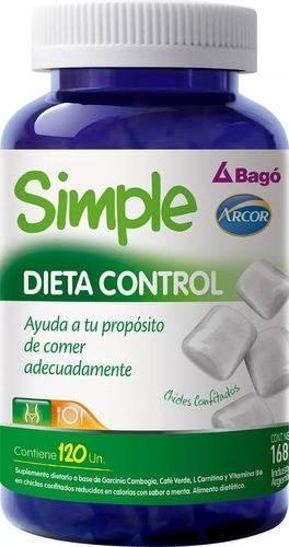 simple de bago dieta control x 120 chicles magistral lacroze