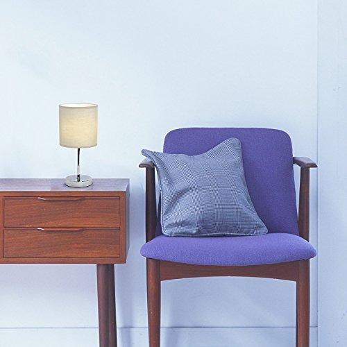 simple designs lt wht cromo mini lámpara de mesa básica con
