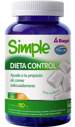 simple dieta control 120 chicles bago arcor adelgazante peso