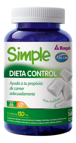 simple dieta control perdida peso chicles arcor bagó x 120