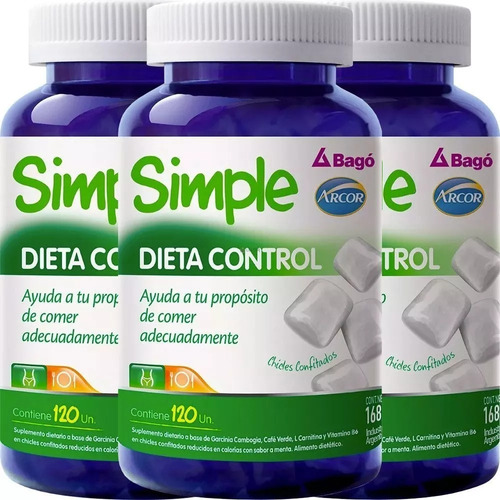 simple dieta control x360 chicles arcor bagó envío gratis!
