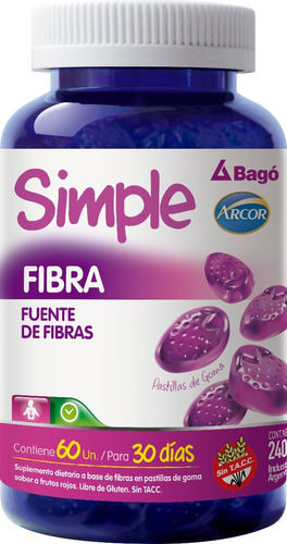 simple dieta control y simple fibra arcor bagó