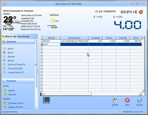 simple gestion lite, facturacion para impresoras fiscales!