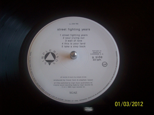 simple minds street fighting years vinyl lp 1989 virginspain