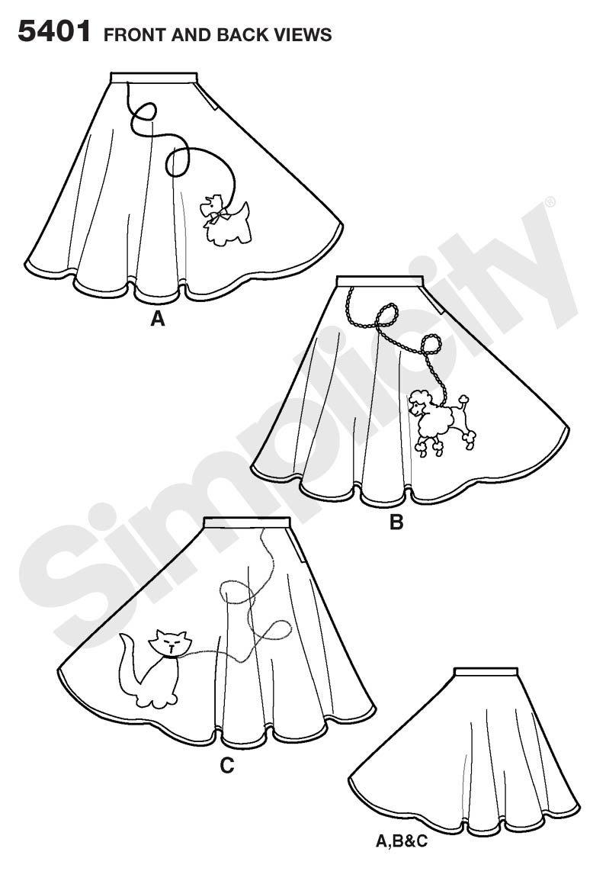 Simplicidad 5401 - Patrones De Costura Para Disfraces De Niñ ...