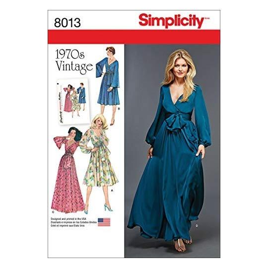 De Costura Patrones Simplicity 'vintage 1970 Para Vestidos OkPiuZTX