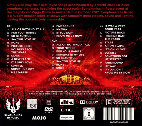 simply red - symphonica in rosso [cd+dvd] importado lacrado