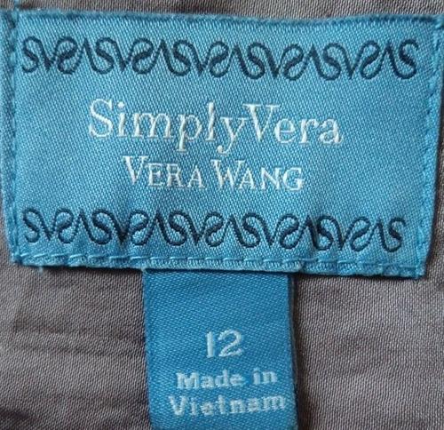 simply vera blusa color lila sin mangas talla 12  bl1179