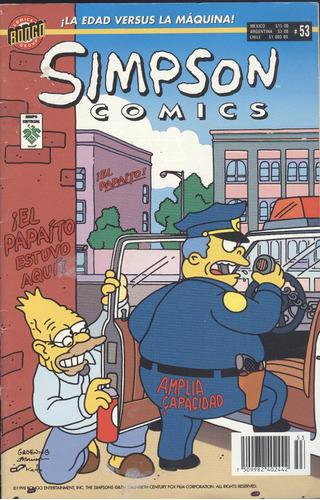 simpson comics # 53 - ¡ la edad versus la maquina !