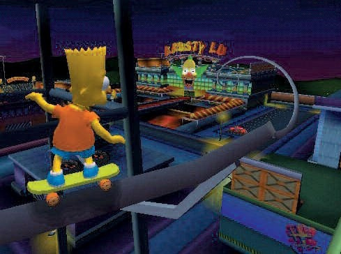 simpsons skatboarding patch play2