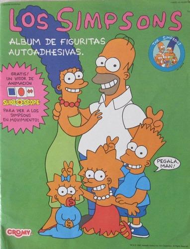 simpsons stickers & activity album completo 3d diamond 1990