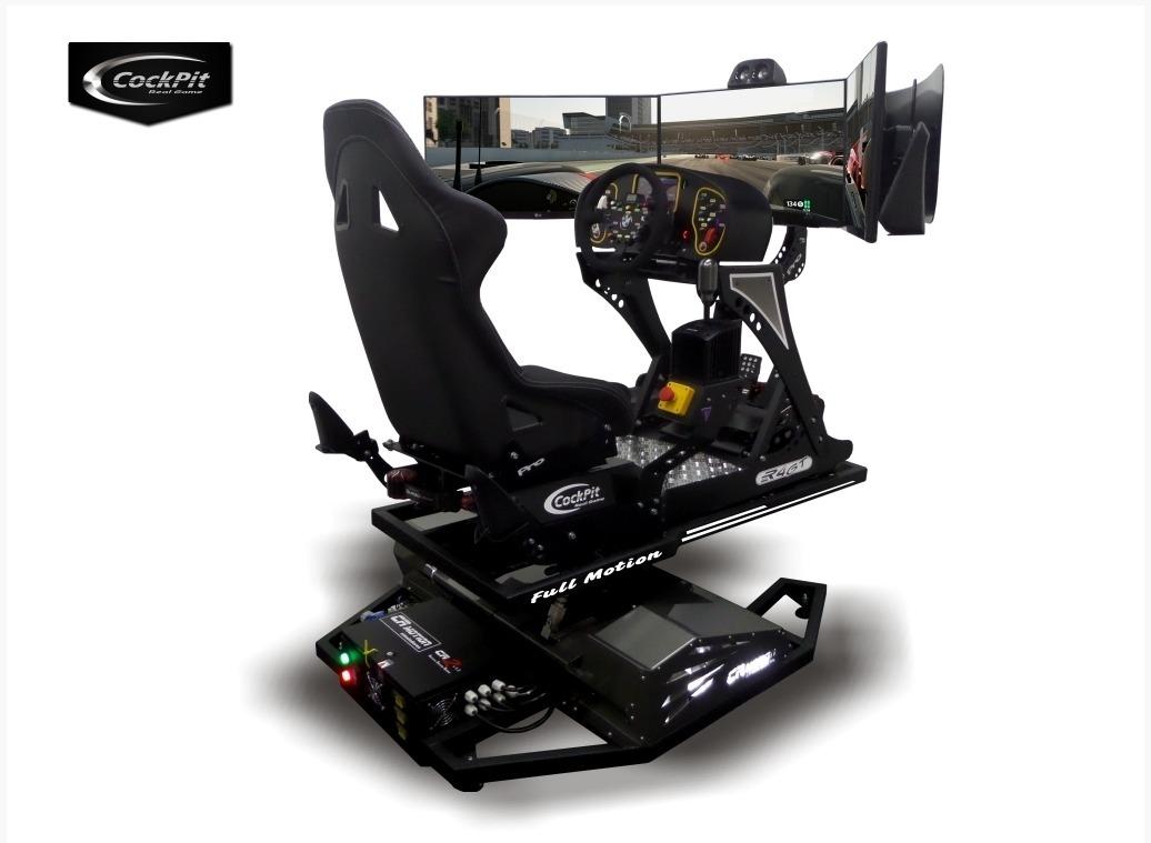 Simulador De Corrida Cockpit R4gt Pro Full Motion R 50