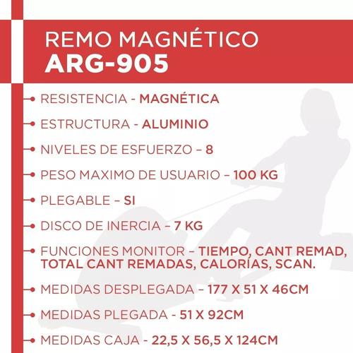 simulador de remo magnetico