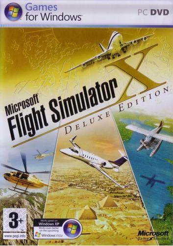 simulador de voo microsoft flight simulator x deluxe edition