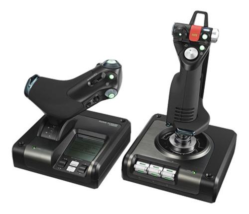 simulador de vuelo sistema pro x52 saitek logitech g